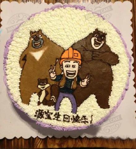 原宿蛋糕手绘图片