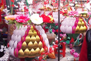 孝气满街 正月初九的百年传统 春节逛乐安花灯会