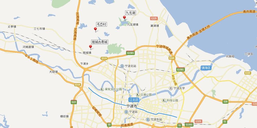 宁波游玩手绘地图