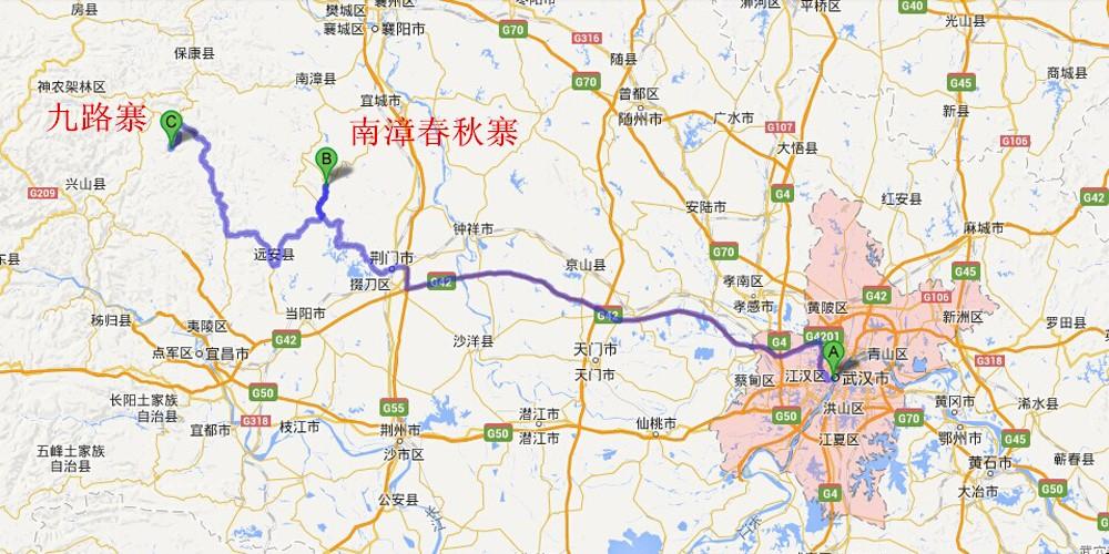 襄阳长征路地图