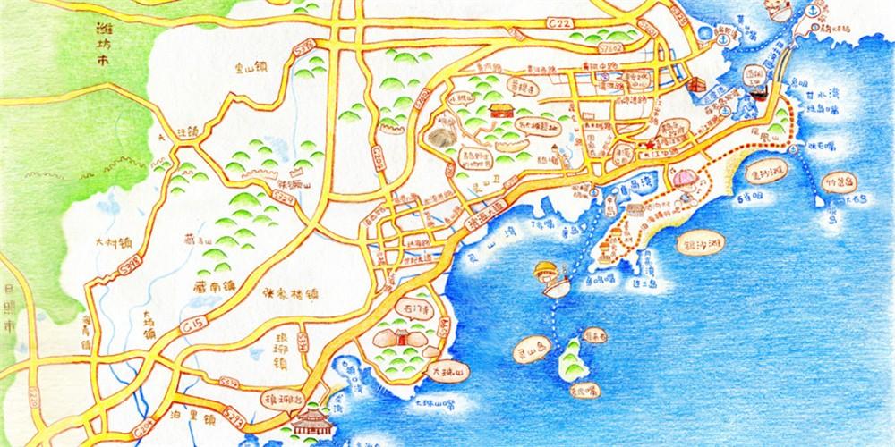 太原到青岛的地图