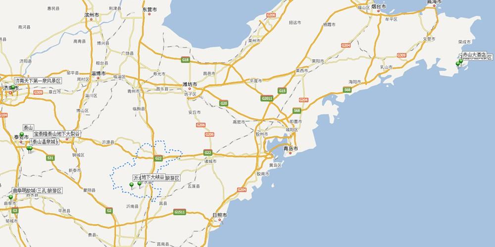 泰山景区周围地图