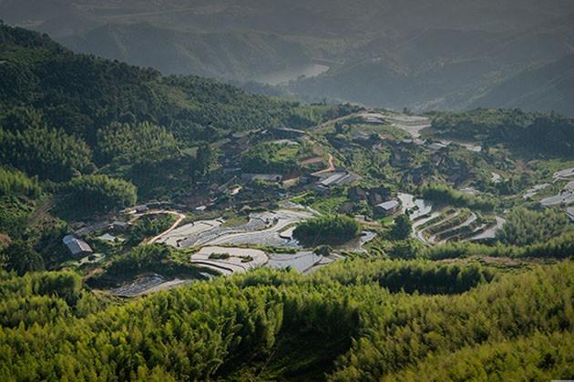 亚洲 中国 福建 龙岩  九鹏溪风景景区位于漳平市南洋乡,是天台山国家