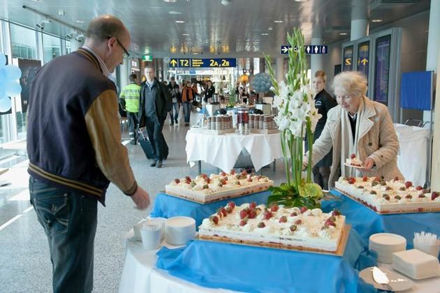 在飞机上不仅品尝北欧美食的新鲜口味