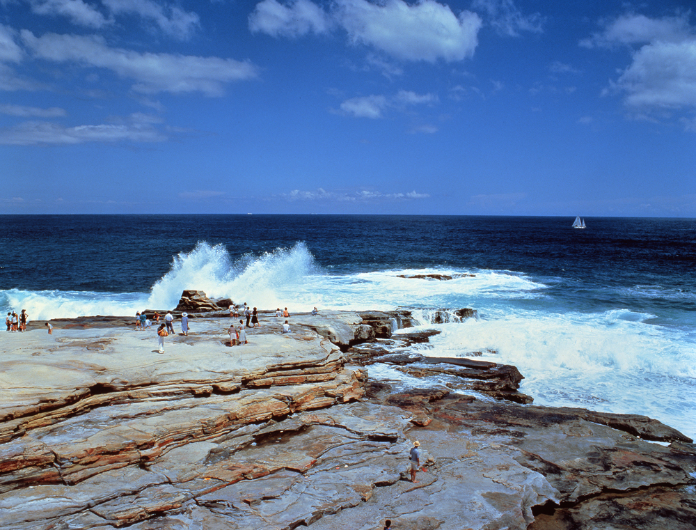 日本海浪 背景素材