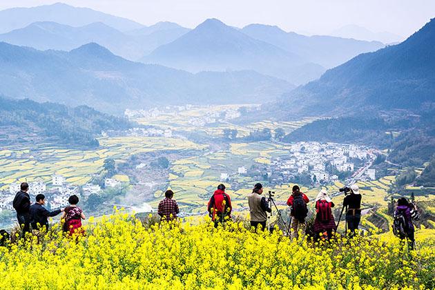 东北农村春天大自然风景图片