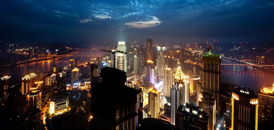 渝中半岛繁华夜景