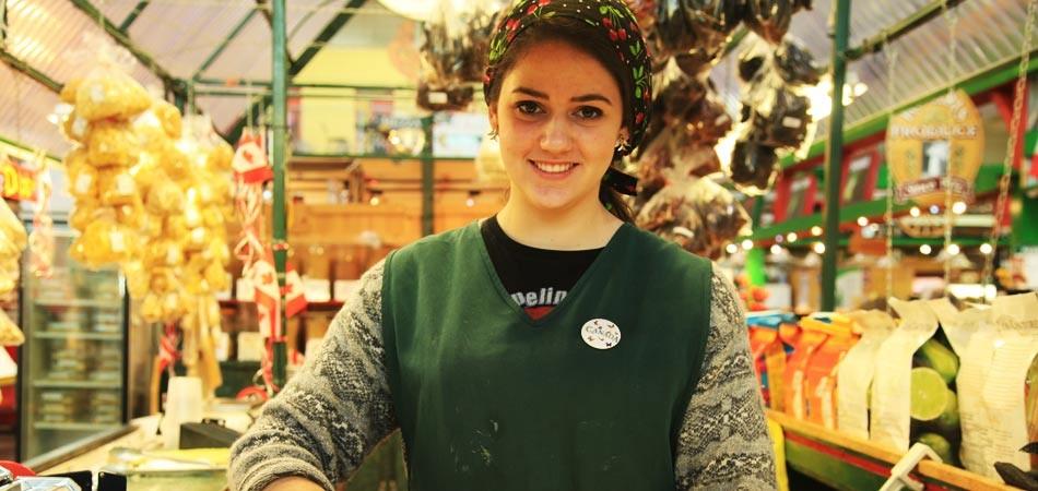 考文特花园市场的女孩 摄影:花子