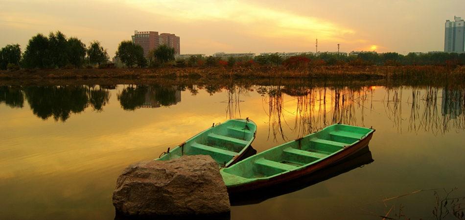汾河湿地公园美景