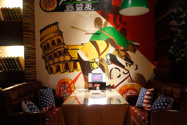 披萨墙绘贴图素材