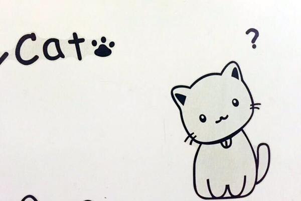 猫咪手绘头像简约