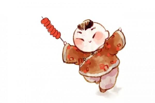 甜甜的冰糖葫芦,可爱的鸡公榄,糖画小人,是团圆庙会并不可少的怀旧妙