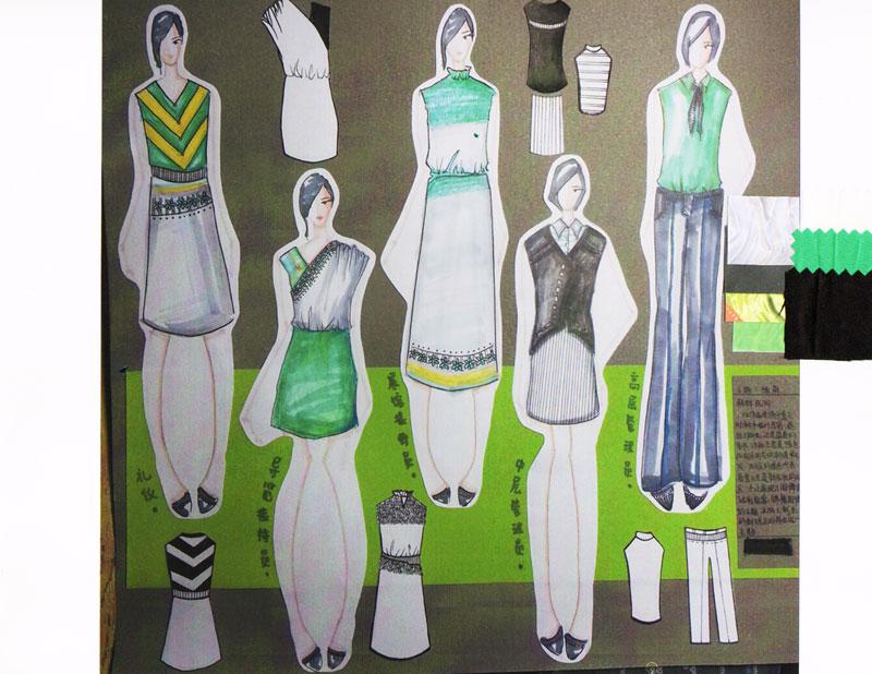 职业服装设计大赛入围作品:绿萌