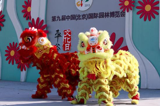 平谷文化日舞狮祈福园博